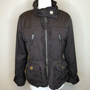 Cache Luxe | Brown Winter Jacket Coat Fitted